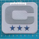 "2019 Dallas Cowboys Captain C Patch 3 Star NFL Football Jersey 3.5"" Patch"