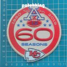 KANSAS CITY CHIEFS 60TH ANNIVERSARY PATCH 1960 - 2019 SEASON NFL AFC FOOTBALL