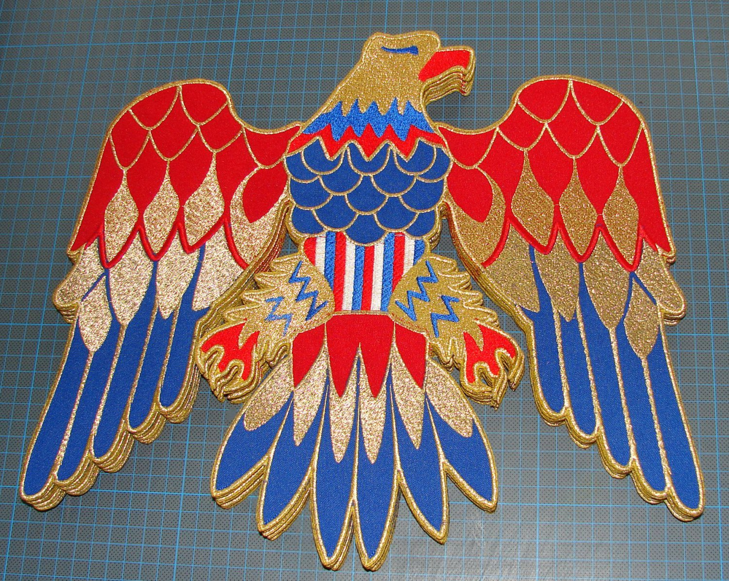 BACK PATCH Elvis Presley jumpsuit cape american eagle costume embroidery patch