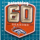 "2019 Denver Broncos 60th Anniversary 3.9"" patch jersey NFL Football embroidered"