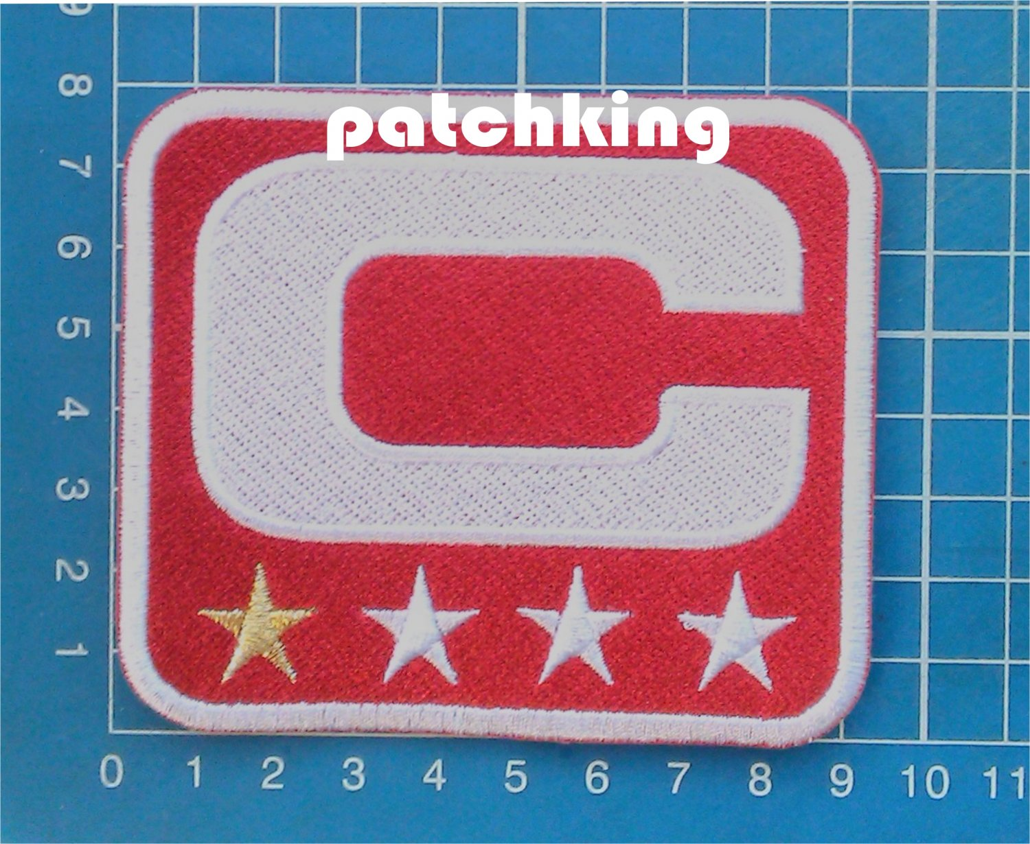 NFL Football Tampa Bay Buccaneers Captain C patch C white 1 star gold embroid