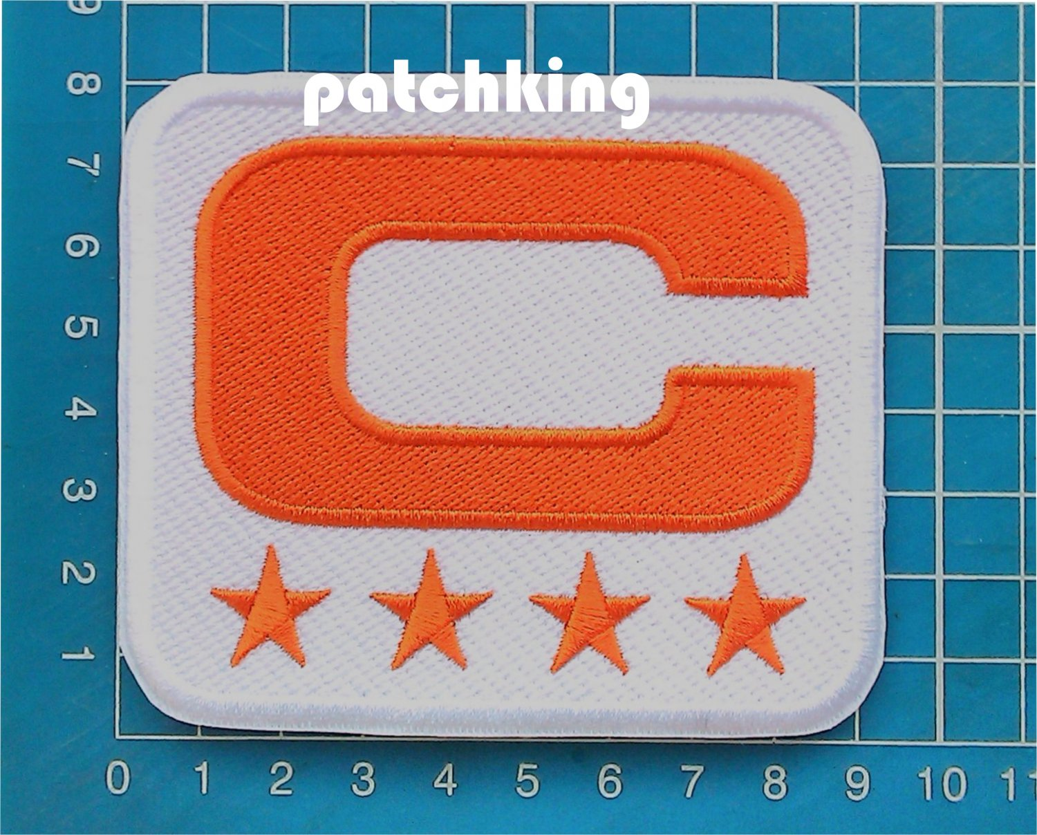 2019 DENVER BRONCOS CAPTAIN C PATCH NFL FOOTBALL C ORANGE 4 STAR ORANGE SEW ON