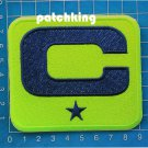 Seattle Seahawks Football NFL 2019 Season Captain C patch NEON GREEN