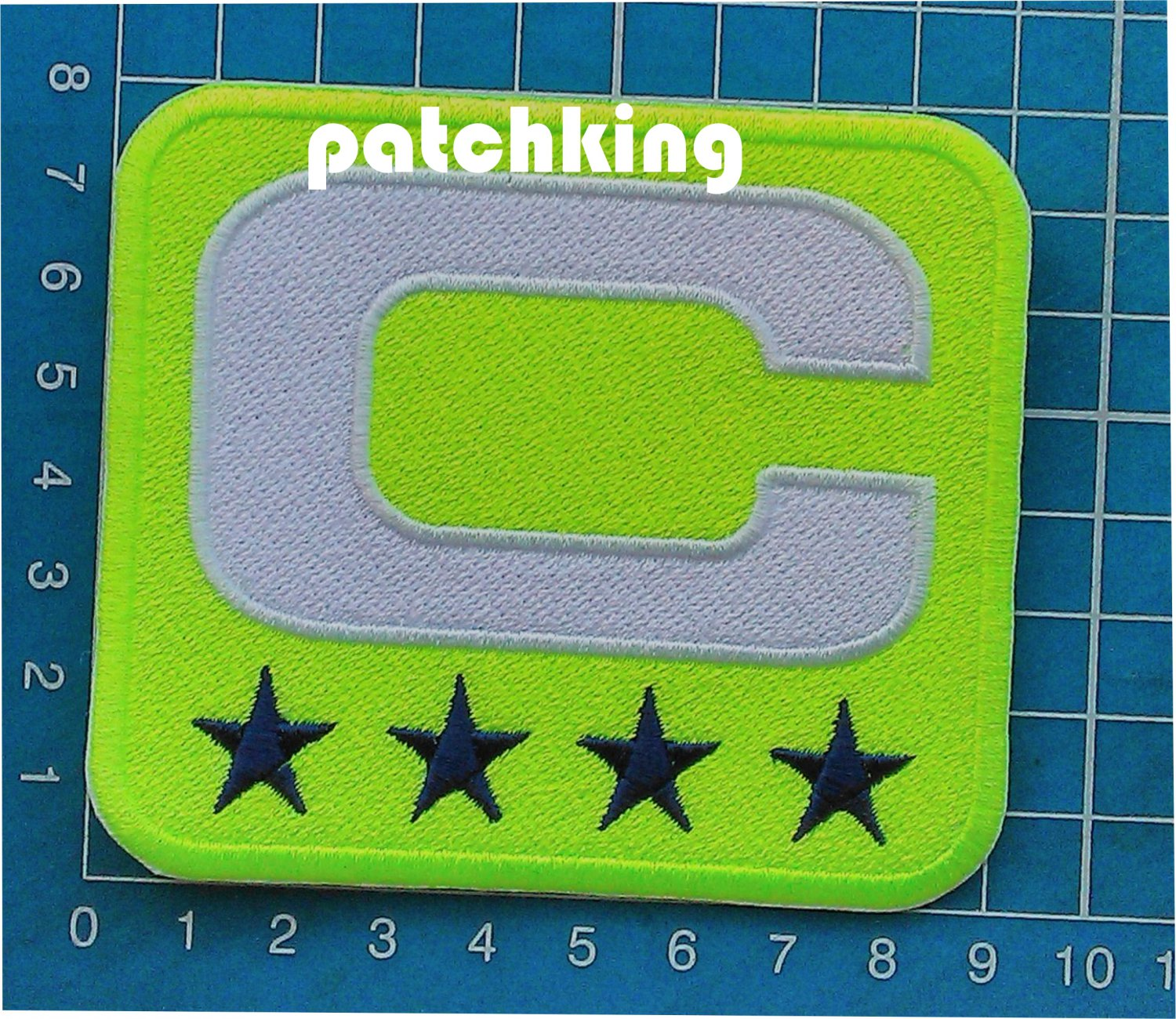 2019 Season NFL football Seattle Seahawks Captain C patch NEON GREEN C White