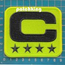 Seattle Seahawks Football NFL 2019 Season Captain C patch NEON GREEN C Blue