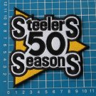 PITTSBURGH STEELERS 50th SEASONS NFL FOOTBALL SUPERBOWL PATCH SEW ON EMBROIDERY