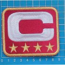 WASHINGTON REDSKINS NFL FOOTBALL CAPTAIN C PATCH C GOLD 4 STAR GOLD EMBROIDERED