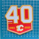 "CALGARY FLAMES 40TH ANNIVERSARY TEAM 3.9"" 10cm PATCH 1979-2019 JERSEY NHL HOCKEY"