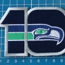 SEATTLE SEAHAWKS 10th ANNIVERSARY NFL FOOTBALL PATCH EMBROIDERED WILLABEE sew