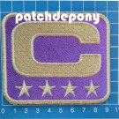 CAPTAIN C PATCH FOOTBALL MINNESOTA VIKINGS SUPERBOWL NFL C GOLD 4 GOLD STAR