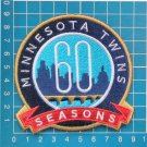 2020 MLB Baseball Minnesota Twins 60th anniversary logo patch sew on embroid