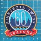 2020 MLB Baseball Minnesota Twins 60th anniversary logo patch sew on embroid