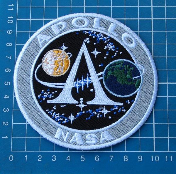 APOLLO A PROGRAM PROJECT MAN MOON LANDING LOGO PATCH NASA SEW ON EMBROIDERY