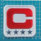 2019 New York Giants CAPTAIN C PATCH NFL FOOTBALL SUPERBOWL 4 STAR EMBROIDED