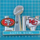 2020 superbowl LIV 54 NFL Football Kansas City Chiefs San Francisco 49ers Patch