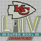 2020 superbowl LIV 54 NFL Football Kansas City Chiefs Champions sew on embroid