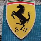 """F1 Formula Ferrari Shield Patch huge 10"""" Sports Car Jersey sew on embroidered"""