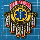 Six Nations Ambulance Services Paramedic Medic Rescue sew on embroidery patches
