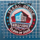 ISAAC BRUCE HALL OF FAME CLASS 2020 NFL FOOTBALL PATCH SEW ON EMBROIDERED