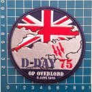 WW II D-Day 75th Anniversary OP Overlord Great Britain Jersey Patch Logo Sew On