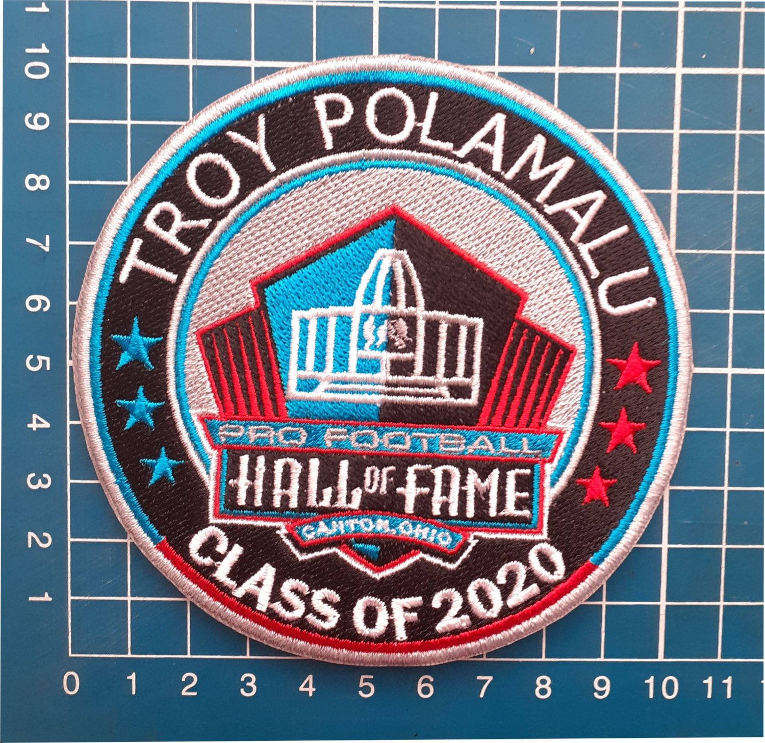 TROY POLAMALU PITTSBURGH STEELERS HOF 2020 NFL FOOTBALL PATCH SEW ON EMBROIDERED