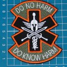 Do No Harm Spartan Do Know Harm Tactical Combat Medic Military Patch copper