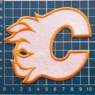 CALGARY FLAMES NHL HOCKEY National Team Logo WHITE sew on  embroidery