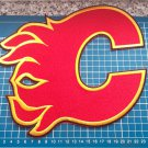 "CALGARY FLAMES NHL HOCKEY National Team 9.8"" Huge Logo RED sew on embroidery"