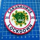 2020 Corona Lockdown Keep Distance Virus Patch sew on embroidery 19 Convid