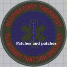 First Response Respiratory Therapist Pulmonary Function Specialist Medical Patch