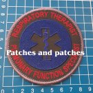 EMR NREMT Respiratory Therapist Pulmonary Function Specialist Medical Patch