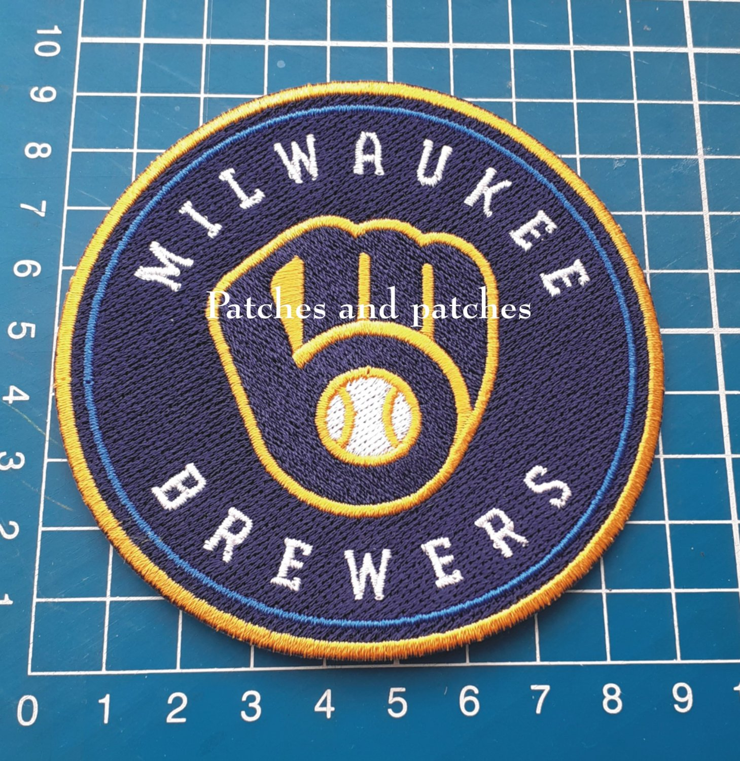 MLB Baseball Milwaukee Brewers Primary logo patch Jersey sew on embroid