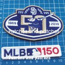 2019 San Diego Padres 50th anniversary MLB 150th seasons Patch 2pcs Embroidered