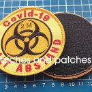 Quarantine Sign 2m KEEP DISTANCE Patch Sew ON Covid Halt Abstand Corona 19