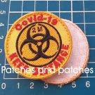 Biohazard Symbol Quarantine KEEP DISTANCE Patch Jersey Emblem Social Distancing