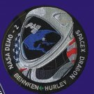 NASA Demo-2 Space X Dragon Hurley Behken Mission To Space Telsa sew on Patch