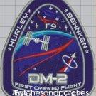 Human Space Flights Dragon SpX-DM2 First Crewed Flight Spacex Nasa Demo-2 Patch