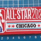"""2020 NBA All Star Game logo Chicago Red Basketball 4"""" Patch Jersey sew on"""