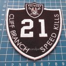 Oakland Raiders Cliff Branch #21 Memorial Logo Patch NFL Football USA Sports