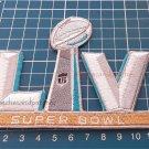 SUPERBOWL LV 55 LOGO PATCH TAMPA BAY FLORIDA NFL FOOTBALL CHAMPIONSHIP GAME