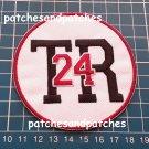 Boston Bruins Travis Roy TR 24 Memorial Logo Patch NHL Hockey Sports Jersey Sew on