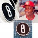 Cincinnati Reds Joe Morgan no 8 Memorial Logo Patch MLB Baseball USA Sports sew