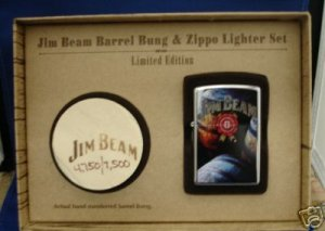 JIM BEAM BARRELS & BUNG LIMITED EDITION ZIPPO LIGHTER