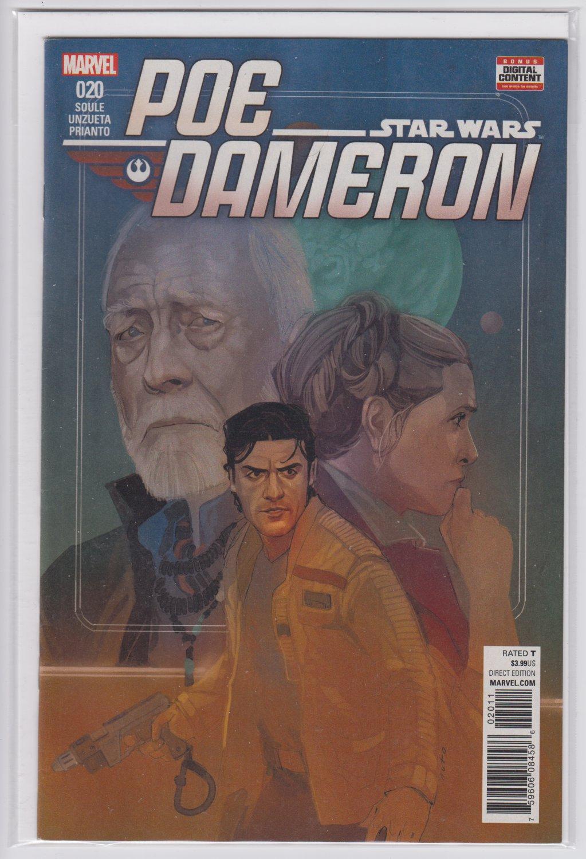 Star Wars Poe Dameron 20 Marvel comics 2017 Phil Noto cover
