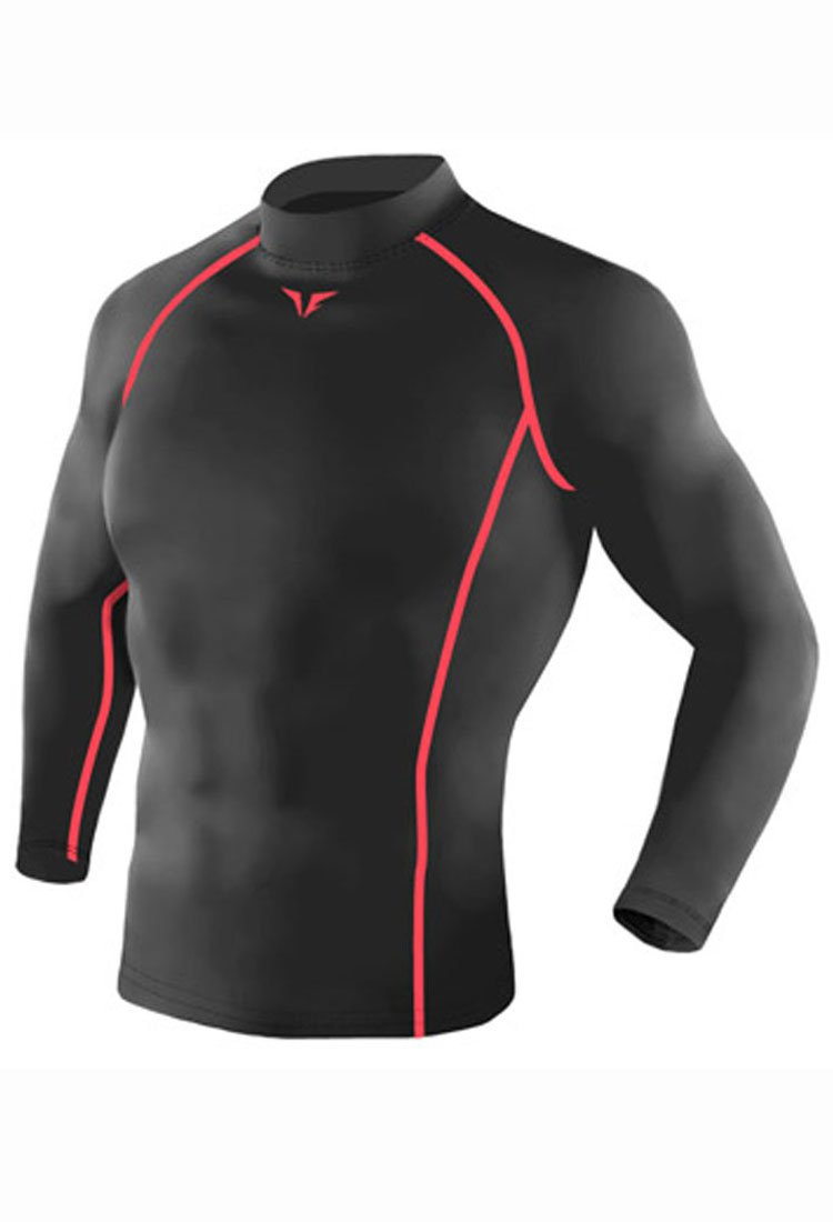 Take Five Mens Skin Tight Compression Base Layer Running Shirt S~2XL Charcoal 216