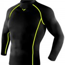 Take Five Mens Skin Tight Compression Base Layer Running Shirt S~2XL Black 214