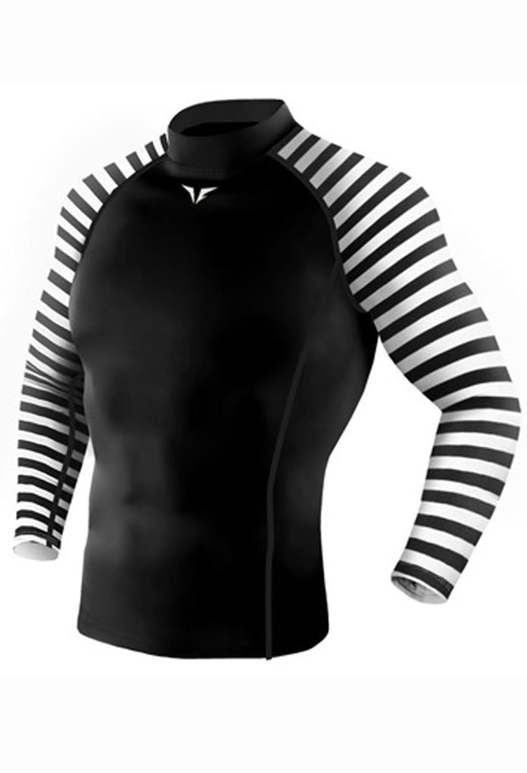 Take Five Mens Skin Tight Compression Base Layer Running Shirt S~2XL Black 210