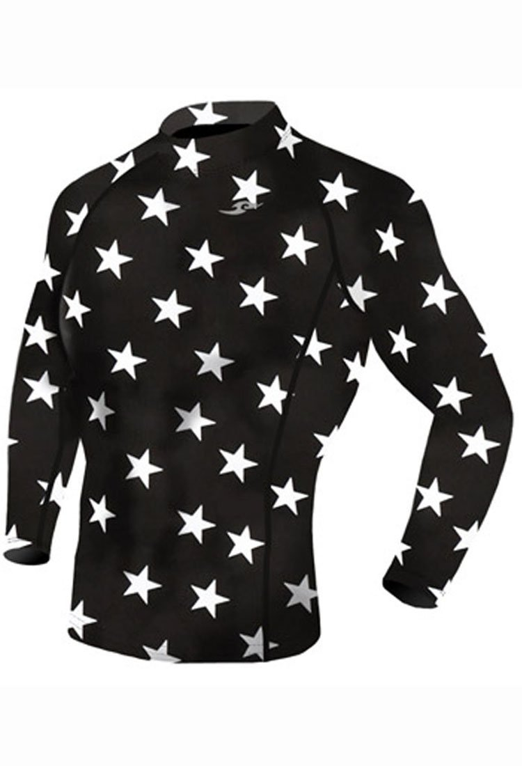 Take Five Mens Skin Tight Compression Base Layer Running Shirt S~2XL Star 069