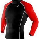 Take Five Mens Skin Tight Compression Base Layer Running Shirt S~2XL Black 052