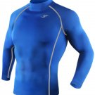 Take Five Mens Skin Tight Compression Base Layer Running Shirt S~2XL Blue 039